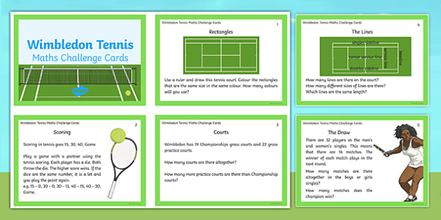 KS1 Wimbledon Maths Challenge Cards