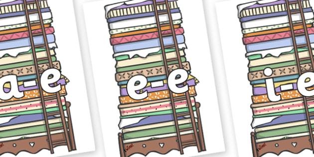 Modifying E Letters on Beds - Modifying E, letters, modify, Phase 5, Phase five, alternative spellings for phonemes, DfES letters and Sounds