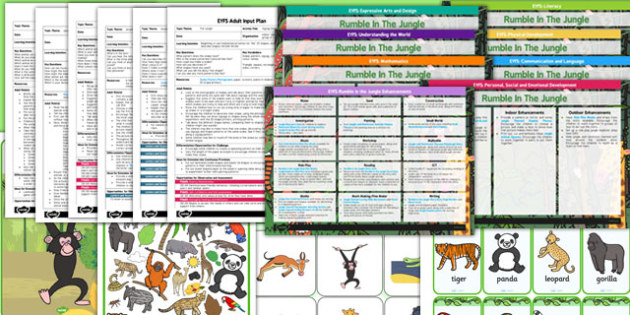 EYFS Rumble in the Jungle Bumper Planning Pack - jungle, bumper