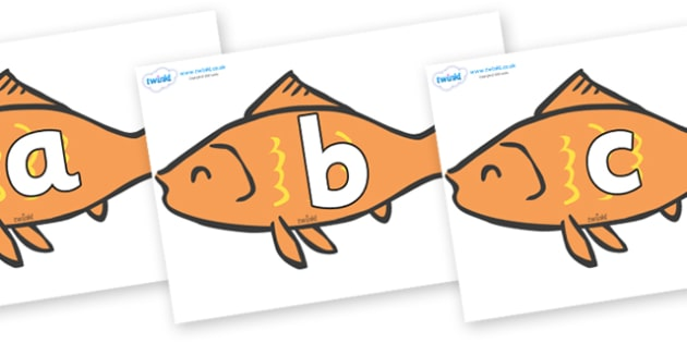 Phoneme Set on Goldfish - Phoneme set, phonemes, phoneme, Letters and Sounds, DfES, display, Phase 1, Phase 2, Phase 3, Phase 5, Foundation, Literacy