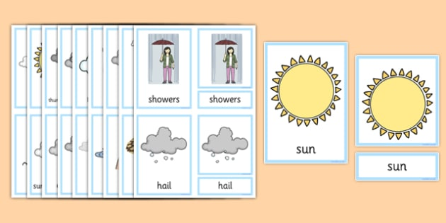 Weather Three Part Cards