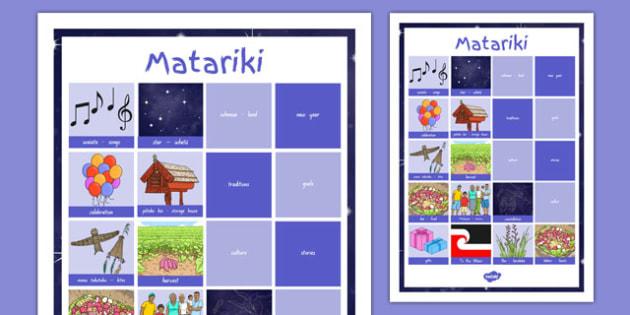 Matariki Vocabulary Poster - nz, new zealand, Matariki, Maori, vocabulary, poster, display