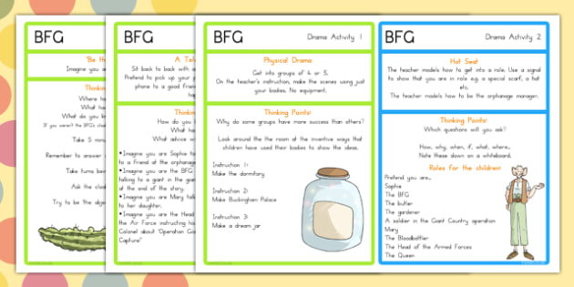 Drama Activities to Support Teaching on The BFG - australia, bfg, drama, activities, giant