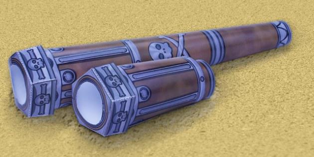 Telescope Paper Model - telescope, paper, model, craft, activity