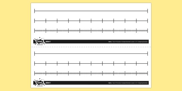 Mixed Blank Number Lines - number line, fractions, decimals ...