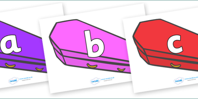 Phoneme Set on Coffins (Multicolour) - Phoneme set, phonemes, phoneme, Letters and Sounds, DfES, display, Phase 1, Phase 2, Phase 3, Phase 5, Foundation, Literacy