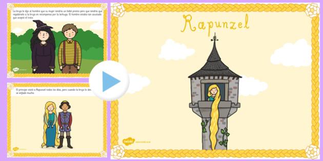 Presentación de Rapunzel - cuentos tradicionales, cuentos de hada, escuchar, historia