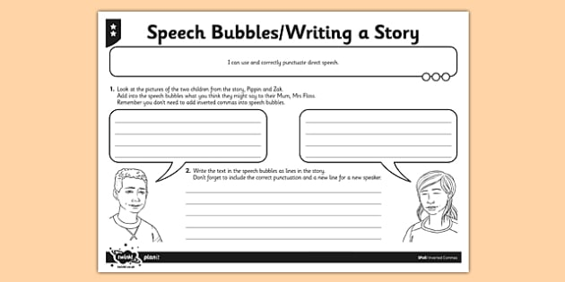 Speech Bubbles Activity Sheet - GPS, inverted commas, speech marks, spelling, punctuation, grammar, SPaG, worksheet