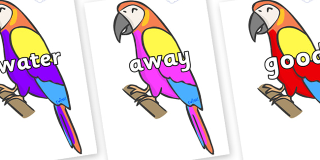 Next 200 Common Words on Macaws - Next 200 Common Words on  - DfES Letters and Sounds, Letters and Sounds, Letters and sounds words, Common words, 200 common words