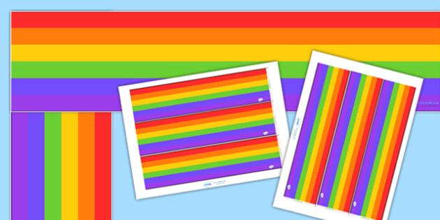 Rainbow Display Borderss - Rainbows, Display border, border, display, weather, seasons, rainbow, rain