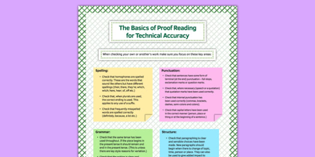 The Basics of Proof Reading for Technical Accuracy - basics, proof reading, technical accuracy