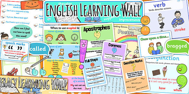 KS1 Literacy Learning Wall Display Pack - literacy, ks1 working wall, ks1