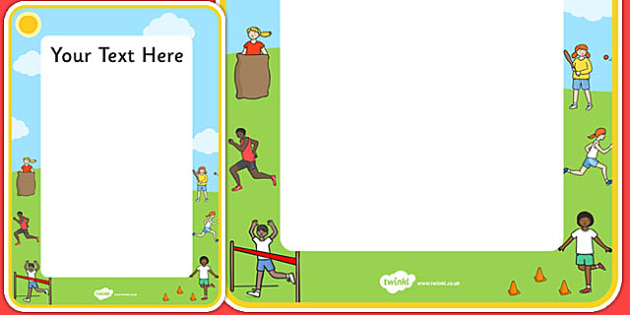 Sports Day Themed Editable Poster - sport, pe, display, posters