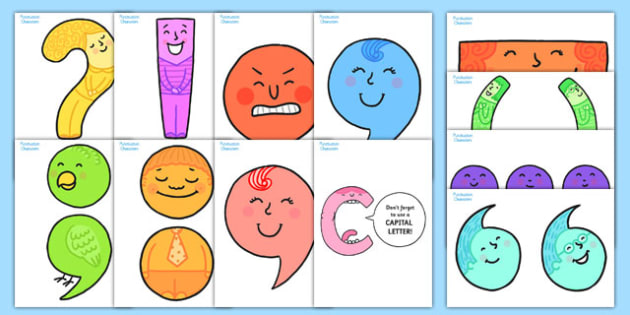 Punctuation Character Display Cut Outs - punctuation, literacy
