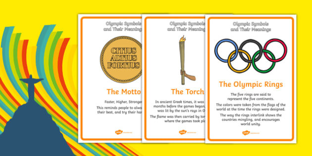 The Olympics Symbols and Their Meanings Display Posters - usa, america, symbols, Olympics, Olympic Games, sports, Olympic, London, what do olympic symbols mean, meaning, 2012, activity, Olympic torch, medal, Olympic Rings, mascots, flame, compete, ev