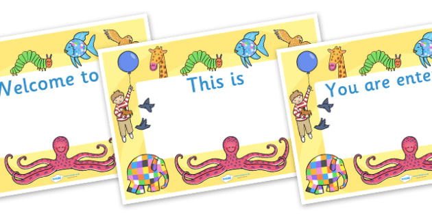 Story Books Editable Class Welcome Signs - story books welcome sign, story books, story books themed welcome signs, welcome signs, editable welcome signs