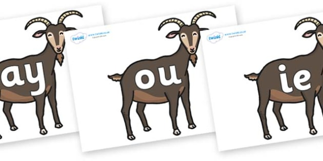Phase 5 Phonemes on Big Billy Goats - Phonemes, phoneme, Phase 5, Phase five, Foundation, Literacy, Letters and Sounds, DfES, display