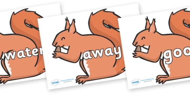 Next 200 Common Words on Red Squirrels - Next 200 Common Words on  - DfES Letters and Sounds, Letters and Sounds, Letters and sounds words, Common words, 200 common words