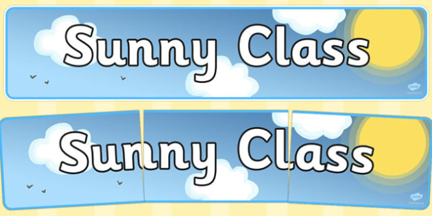 Sunny Class Display Banner - sunny class, display banner, display