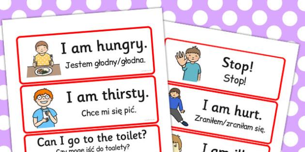 Polish Translation Survival Vocabulary - polish, survival, cards