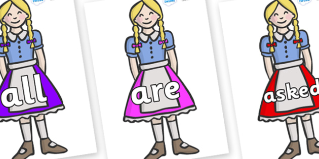 Tricky Words on Gretel - Tricky words, DfES Letters and Sounds, Letters and sounds, display, words