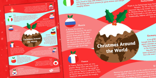 Christmas Around the World Poster - posters, display, information