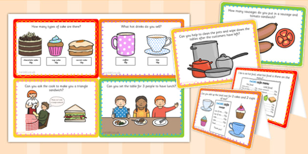 Challenge Cards Cafe Role Play - challenge, cards, caf