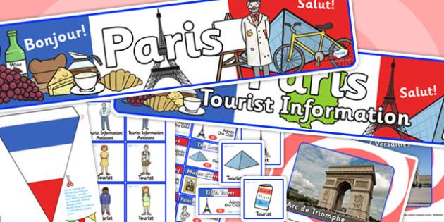 Paris Tourist Information Office Role Play Pack-paris, tourist information, tourist, role play, role play pack, paris pack, tourist, activity
