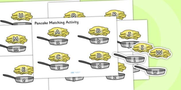 Pancake and Pan Upper and Lower Case Matching Activity - pancake