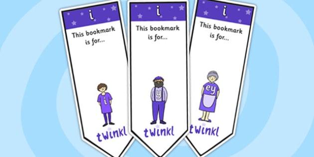 i Sound Family Editable Bookmarks - i sound family, editable bookmarks, bookmarks, editable, behaviour management, classroom management, rewards, awards