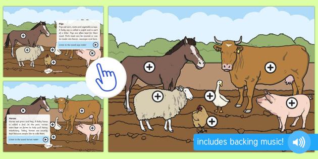 Farm Animals Picture Hotspots