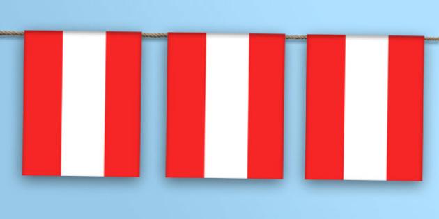 Austria Flag Bunting - austrai flag, austria, flag, bunting, display bunting, display