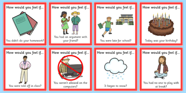 'How Would You Feel if...?' Cards - feel, emotions, cards, how, you