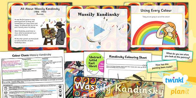 PlanIt - Art - KS1 Colour Chaos Lesson 6: Kandinsky Lesson Pack