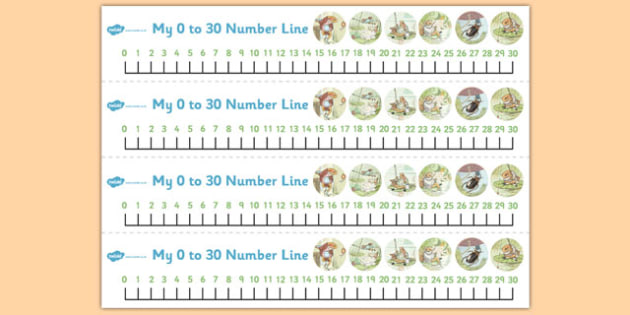 The Tale of Mr Jeremy Fisher Number Lines 0-30 - mr jeremy fisher, number lines, 0, 30, number, maths, beatrix potter