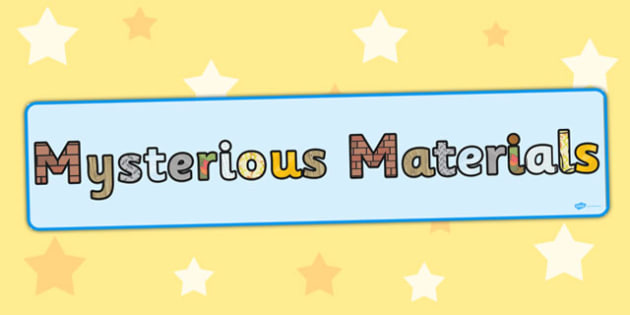 Mysterious Materials Display Banner - display, banner, materials