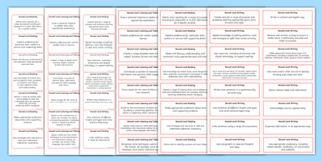 CfE Second Level Literacy and English Benchmark Assessment Sticker Pack