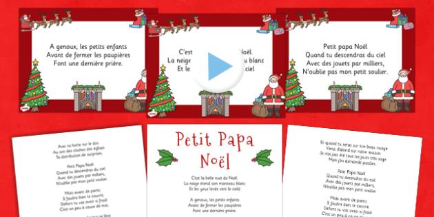 Paroles du chant de Noël Entre le boeuf et l'âne gris Powerpoint - french, twas the night before christmas, pack, christmas