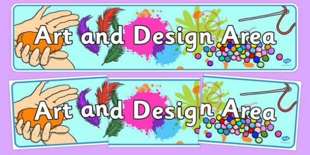 EYFS Art and Design Display Banner - eyfs, art, design, banner