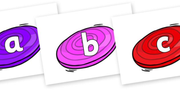 Phoneme Set on Frisbees - Phoneme set, phonemes, phoneme, Letters and Sounds, DfES, display, Phase 1, Phase 2, Phase 3, Phase 5, Foundation, Literacy