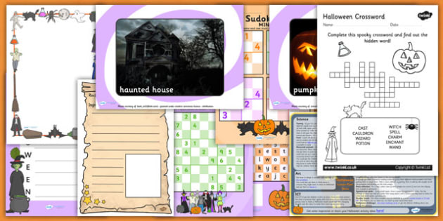 KS1 Halloween Teaching and Activity Pack - halloween, pack, craft