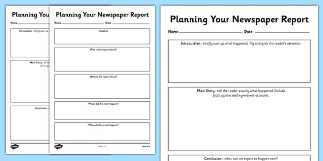 How to write a sport report