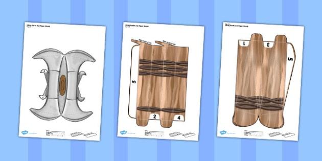 Viking Battle Axe Paper Model - battle axe, paper, model