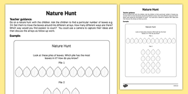 Nature Hunt Teaching Ideas