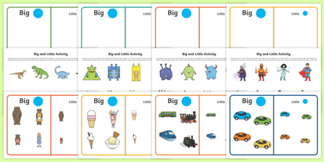 Workstation Pack: Big and Little Activity Pack