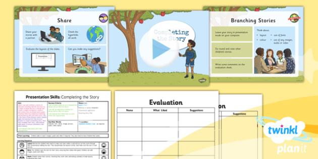 PlanIt - Computing Year 3 - Presentation Skills Lesson 6: Completing the Story Lesson Pack - planit, computing, year 3, presentation skills, unit, lesson 6