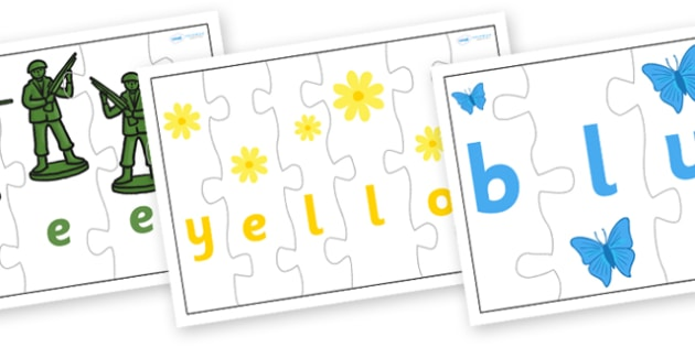 Colour Jigsaw Spelling - colour, jigsaw, spelling, game, literacy