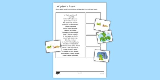 La cigale et la fourmi - french, france, la cigale et la fourmi, Jean de La Fontaine, fable