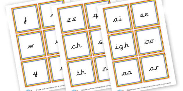 Phase Three Precursive Word Cards - Phase 3 Visual Aids Primary Resources, Phase One, Letters, sounds