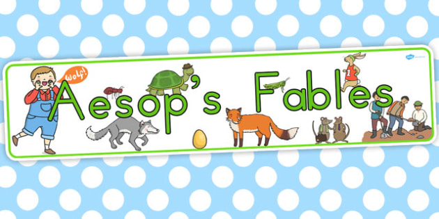 Aesops Fables Display Banner - australia, aesop, fables, display